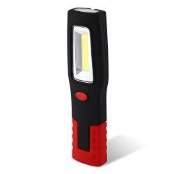 SNAN-Lampe-de-travail-3W-260LM-LED-COB-pour-AutoGarageAtelier-travail-lampe-de-poche-torche-intgre--Suspendre-Crochet-et-aimant-de-base-0