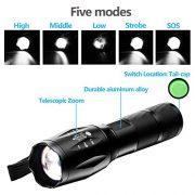 Torche-Lampe-de-Poche-LED-900LM-Zoomable-et-Rechargeable-avec-5-Modes-Super-Lumineuse-Intensit-AjustablePile-rechargeable-incluse-0-2
