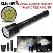XLightFire-Lampe-de-pocheInternet-28000-Lumens-C15-Tactical-LED-11x-CREE-XM-L-T6-lampe-de-poche-18650-Super-Bright-militaire-de-grade-tanche-titulaire-Torche-5-Modes-0