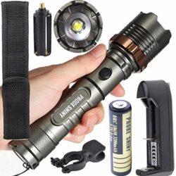 Fortan-Torche-tactique-5000LM-XM-L-T6-LED-zoomables-Lampe-torche-Batterie-Chargeur-0