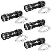 LE-5-x-Mini-Lampes-de-Poche-LED--Pile-Mini-Torche-Portable-avec-Porte-cls-Torche-en-Aluminium-Ultra-Lgre-avec-Mousqueton-Noire-0