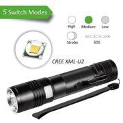 Ustellar-1000LM-Torche-Lampe-de-Poche-LED-Rechargeable-IP65-Etanche-5-Modes-CREE-LED-Zoomable-Cble-USB-Inclus-Ultra-Puissante-Pour-Randonne-Camping-0-0