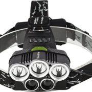 Halepro-Lampe-Frontale-Puissante-Lampe-Torche-LED-Rechargeable-Lampe-Frontale-LED-avec-5-LED-Cree-XML-T6-6-Modes-dEclairage-avec-Cble-USB-et-2-Batteries-Etanche-Antichoc-0-0