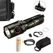 Soonfire-NS17-CREE-XM-L2-U3-LED-lampe-torche-rechargeableDbit-maximal-1000-lumens210m-de-porteLivr-avec-un-cble-USBun-tui-nylonune-dragonneBatterie-0-0