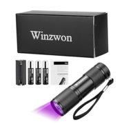 Winzwon-LED-Lampe-Torche-UV-Lampe-de-poche-Lumire-Noire-Lampe-Torche-395nm-ultra-violet-Dtecteur-pour-traceurs-fluorescents-urine-animale-Tapis-3-piles-AAA-Incluses-0-0