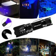 2-en-1-Lampe-Torche-LED-Lampe-de-Poche-Tactique-et-Lampe-Torche-UV-Cree-LED-500-Lumens-Puissante-4-Modes-Zoomable-350m-de-Distance-avec-395NM-Lumire-Ultraviolet-0-0