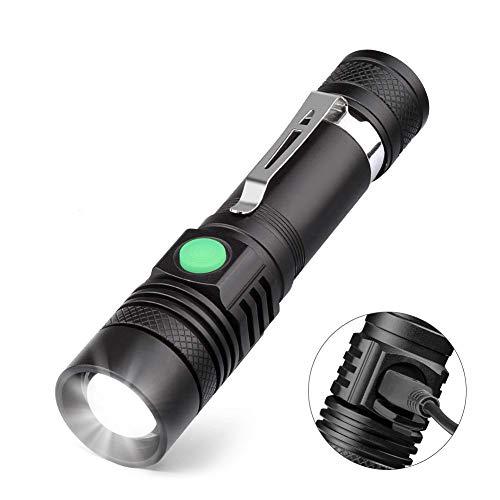 Torche-Lampe-LED-Rechargeable-USB-Coquimbo-Lampe-de-Poche-600-Lumens-IP65-tanche-4-Modes-Eclairage-Lampe-de-Poche-Zoomable-pour-Mnage-le-Camping-La-Randonne-Durgence-Batterie-Incluse-0