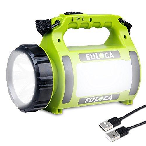 Euloca-Lampe-Torche-Led-Rechargeable-Etanche-2600mAh-Cree-Led-3-en-1-Puissante-Lampe-Camping-Portable-Lanterne-Torche-Cble-Usb-Inclus-pour-Randonne-0