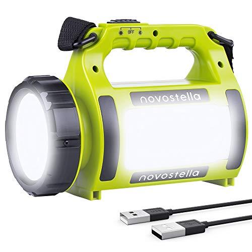 Novostella-Lampe-Torche-LED-Rechargeable-Etanche-CREE-LED-3-en-1-Puissante-Lampe-Camping-Projecteur-Portable-Lanterne-Torche-Cble-USB-Inclus-pour-Randonne-Ustellar-0