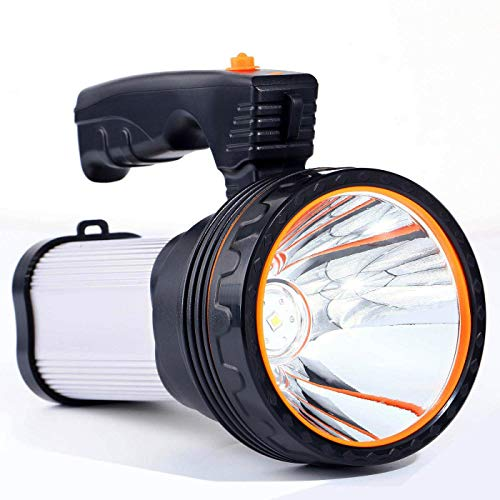ROMER-LED-Rechargeable-Handheld-Searchlight-High-Power-Super-Bright-9000-MA-6000-LUMENS-CREE-Tactical-Spotlight-Torch-Lantern-Flashlight-0